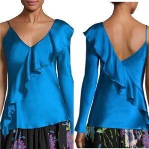 Diane von Furstenburg One Shoulder Silk Top